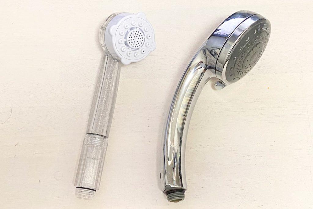 ミラブルプラスと普通のシャワーヘッド